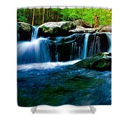 Smokey Mountains Mountain Stream 4 Shower Curtain