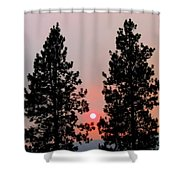 Smokey Okanagan Sunset Shower Curtain