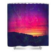 Smokey Purple Sunrise Shower Curtain