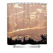 Smokey Skies Sunset Shower Curtain