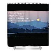 Smokey Sunset Poetry Shower Curtain