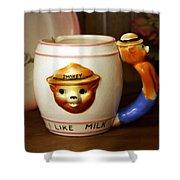 Smokey The Bear Mug Shower Curtain
