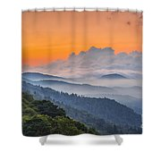 Smokies Paradise. Shower Curtain by Itai Minovitz