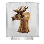 Smokin' Moose Shower Curtain