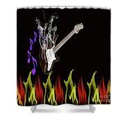 Smoking Guitar Shower Curtain