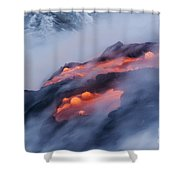 Smoking Pahoehoe Lava Shower Curtain