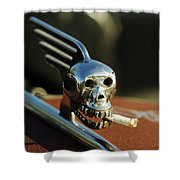 Smoking Skull Hood Ornament Shower Curtain