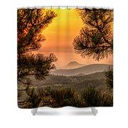 Smoky Black Hills Sunrise Shower Curtain