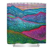Smoky Mountain Abstract Shower Curtain
