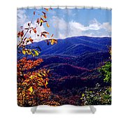 Smoky Mountain Autumn View Shower Curtain