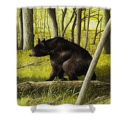 Smoky Mountain Bear Shower Curtain