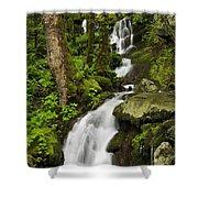 Smoky Mountain Cascade - D002388 Shower Curtain