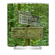 Smoky Mountain Directional Shower Curtain