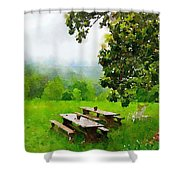 Smoky Mountain Morning Shower Curtain