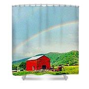 Smoky Mountain Rainbow  Shower Curtain