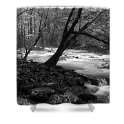Smoky Mountain Stream Shower Curtain