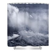 Smoky Mountain Vista In B And W Shower Curtain