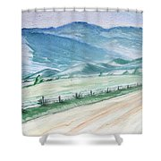 Smoky Mountains From Cades Cove Loop Shower Curtain