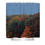 Smoky Mountains In Autumn Shower Curtain by DigiArt Diaries by Vicky B Fuller