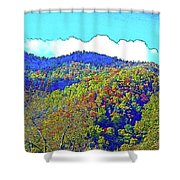 Smoky Mountains Scenery 6 With Sunny Day Filter Shower Curtain