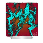 Smoky Shadows Shower Curtain