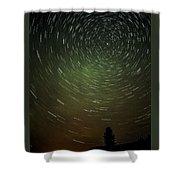 Smoky Starry Skies Shower Curtain