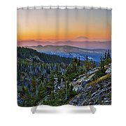 Smoky Twilight Shower Curtain