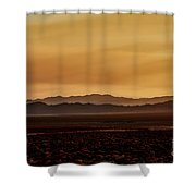 Smoky Western Landscape Shower Curtain