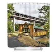 Smolen-gulf Bridge And Riverview Walk Bridge Shower Curtain