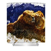 Smooching Lions Shower Curtain