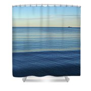 Smooth Blue Water On The Lynn Waterfront Shower Curtain