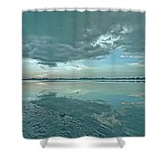Smooth Blues Shower Curtain