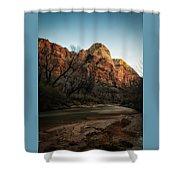 Smooth Desert River Shower Curtain