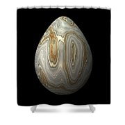 Smooth Grey Marble Egg Shower Curtain