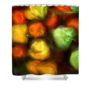 Smooth Peppers Shower Curtain