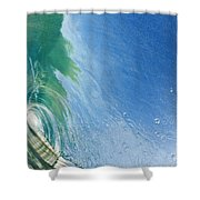 Smooth Wave Tube Shower Curtain