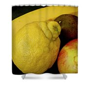 Smoothie Collection With Apple Note. Shower Curtain