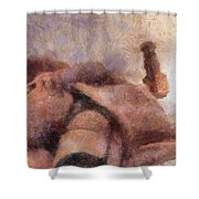 Smother Me By Mary Bassett Shower Curtain