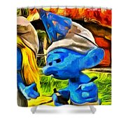 Smurfette And Friends - Pa Shower Curtain