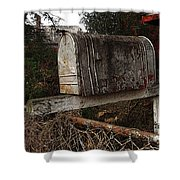 Snail Mail Receptacle Shower Curtain