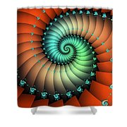 Snails On The Way Shower Curtain