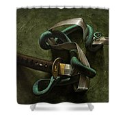Snake And Sword Shower Curtain