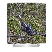 Snake Bird Shower Curtain