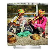 Snake Charmer And Apprentice Shower Curtain
