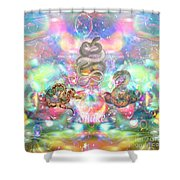 Snake Moon Shower Curtain