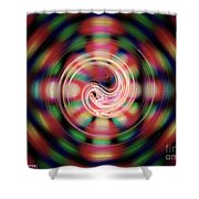 Snake Pit Abstract Shower Curtain