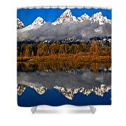 Snake River Fall Reflections Shower Curtain