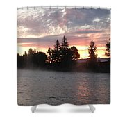 Snake River Sunrise Shower Curtain