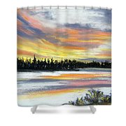 Snake River Sunset Shower Curtain