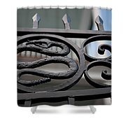 Snakes On A Gate Shower Curtain